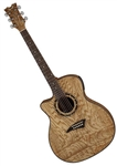 Dean Exotica Quilt Ash Acoustic-Electric Guitar in Gloss Natural Lefty EQAL GN
