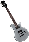 Dean EVO XM MSL Solid Body Electric Guitar w/ Dual Humbuckers - Metallic Silver