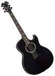 Dean Exhibition Acoustic-Electric Guitar with Aphex in Black Satin w/ Hard Case