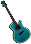 Dean Exhibition Thinbody Cutaway Acoustic/Electric Guitar Faded Denim EXFM FD
