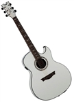 Dean Exhibition Ultra Acoustic/Electric Guitar with B-Band USB in Classic White w/ Deluxe Bag