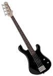 Dean Hillsboro Junior 3/4 Size Electric Bass Guitar in Classic Black