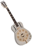 Dean Chrome G Dobro Resonator Guitar w/ Gold Coverplate - RESCG. FREE Shipping, case, setup!