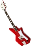 Airline '59 1P Custom Single Pickup Solid Body Electric Guitar - Red