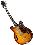 Airline H77 1960's Harmony Tribute Hollowbody Electric Guitar - Honeyburst