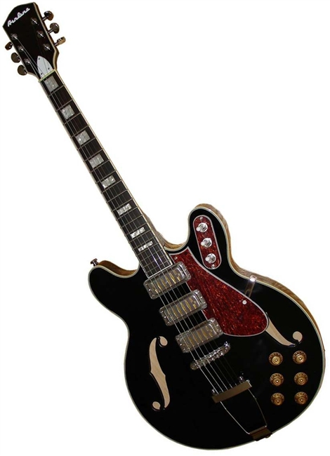 Airline H77 1960s Harmony Tribute Hollowbody Electric Guitar