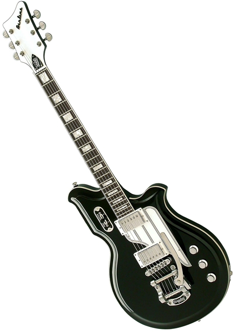 Airline Map DLX Deluxe National Reissue Retro Electric Guitar W Case
