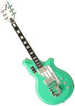 Eastwood Airline Map DLX Deluxe National Reissue Retro Electric Guitar w Case - LEFT HANDED Seafoam Green