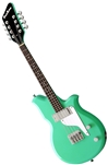 Airline 8-String Electric Mandola - Seafoam Green, Black