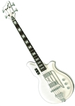 Airline Map Bass Guitar - Valco National Newport Tribute Reissue -  4 String Black, White, Seafoam Green