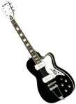 Eastwood Airline Tuxedo Barney Kessel Reissue Retro Hollowbody Electric Guitar - Black, Sunburst, Copper or Left Handed Black