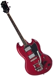 Eastwood Astrojet Tenor DLX 4-String Solid-Body Electric Guitar w/ Bigsby and Hard Case