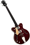 Eastwood Classic 4 Fretless Hollowbody Reissue Electric Bass Guitar - Walnut