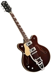 Eastwood Classic 6 Deluxe Hollowbody Electric Guitar - Walnut, Orange, White, Black