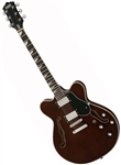 Eastwood Classic 6 HB Hollowbody Electric Guitar - Walnut