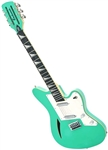 Eastwood SURFCASTER 12 String Tone Chambered Body Electric Guitar Cherry, Orange, Seafoam Green