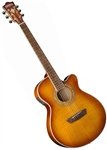 Washburn EA15ITB Mini Jumbo Acoustic/Electric Guitar w/ Case