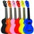 Eddy Finn Minnow Soprano Ukulele Uke EF-MN w/ Bag Red, Black, Pink, Blue, Natural