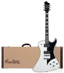 Hagstrom Fantomen FANT-WHT Solid Body Electric Guitar - White With Hard Case