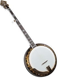Flinthill FHB-287A Archtop (Gold) Banjo Bluegrass 5 String w/ Case
