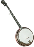 Gold Star GF-100HF Hearts and Flowers Mahogany 5 String Pro Banjo with Hard Case