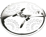 Golden Gate Standard Dobro Coverplate - Nickel-plated Brass
