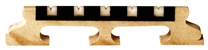 "Golden Gate 5-String Banjo Bridge - 5/8"" Deluxe Ebony w/ Bone Inserts"