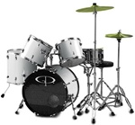 GP Percussion Performer GP200 5 Piece Drum Set w/ Throne Cymbals & Sticks