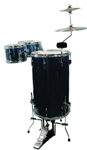 GP Percussion Cocktail Drum Set GP75MB - Metallic Blue