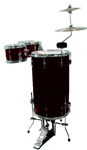 GP Percussion Cocktail Drum Set GP75WR - Wine Red