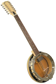 Gold Tone GT-1200 Banjitar Twelve String Electric Banjo w/ Case. Free case, setup and shipping!