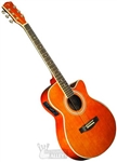 Indiana Mojave I-MOJA Herringbone Cutaway Acoustic/Electric Guitar