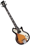 Italia Mondial Deluxe Electric Bass Guitar w/ Gig Bag Sunburst