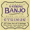 D'Addario J57 5-String Nickel Custom Medium Banjo Strings 11-22