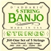 D'Addario J60 5-String Nickel Custom Light Banjo Strings 9-20