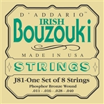 D'Addario J81 Irish Bouzouki 8-String Nickel Wound Strings Set