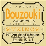 D'Addario J97 Greek Bouzouki 8-String Nickel Wound Strings Set