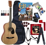 Johnson JG-100 Student Acoustic Guitar Chord Buddy Bundle - Package available in Black, Blue, Red, Walnut, Pink,Natural