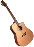 Kona K1E Dreadnought Cutaway Acoustic/Electric Guitar - Natural