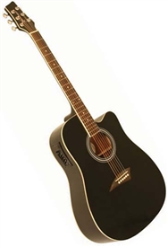 kona k1ebk dreadnought cutaway acoustic electric guitar black. Black Bedroom Furniture Sets. Home Design Ideas