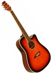 Kona K1ETSB Dreadnought Cutaway Acoustic/Electric Guitar - Sunburst