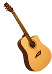 Kona K1GL Dreadnought Cutaway Acoustic Guitar - Natual Gloss