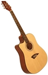 Kona K1L Left Handed Acoustic Dreadnought Cutaway Guitar