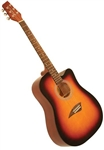 Kona K1SB Dreadnought Cutaway Acoustic Guitar - Sunburst