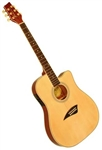 Kona K2 Series Thin Body Acoustic/Electric Guitar - Natural