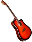 Kona K2 Series Thin Body Acoustic/Electric Guitar - Sunburst