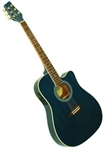 Kona K2 Series K2TBL Thin Body Acoustic/Electric Guitar - Blueburst