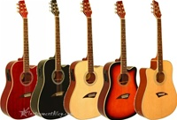 Kona K1E Cutaway Acoustic Electric Guitar 7 Colors and Left Handed Available