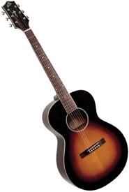 The Loar LH-250-SN All-Solid Small Body Acoustic Guitar - Sunburst