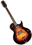 The Loar LH-280-CSN Hollowbody Acoustic Electric Jazz Guitar with Hard Case - Sunburst